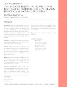 Can-Serious-Injury-in-Professional-Football-be-Predicted-by-a-Preseason-Functional-Movement-Screen