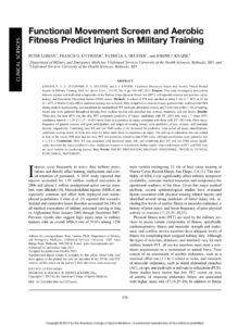 thumbnail of Functional-Movement-Screen-and-Aerobic-Fitness-Predict-Injuries-in-Military-Training