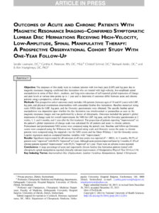 Outcomes-of-Acute-and-Chronic-Patients-With-Magnetic-Resonance-Imaging